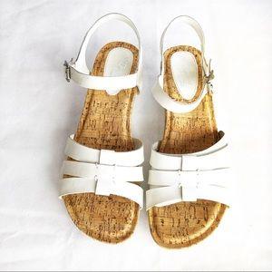 I Love Comfort Memo Tech White Leather Sandals 10